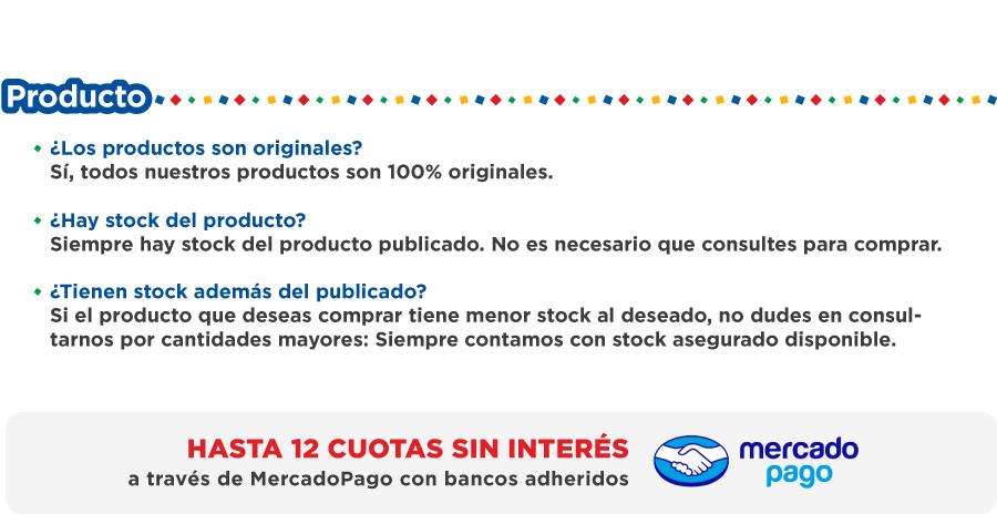 Sobre nuestros productos... - Paga tu compra en hasta 12 cuotas sin interes con Marcadopago